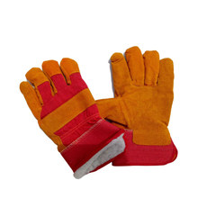Insulated cow split leather glove cold proof