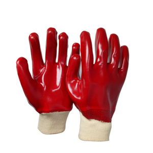 Red PVC gloves HPV922