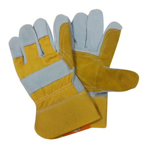 Reinforced cow leather palm work glove HLC863