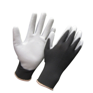 Polyester PU palm coated gloves HPU129