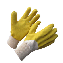 Rough latex coated glove with jersey liner HCL432
