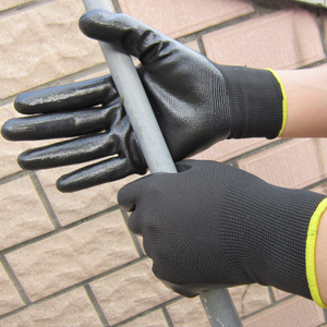 13 gauge black nitrile coated glove HNN339