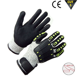 Cut resistant and anti vibration glove